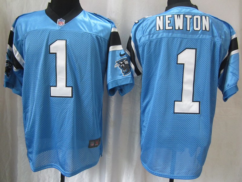 Carolina Panthers 1 Newton Blue Nike Elite Jersey