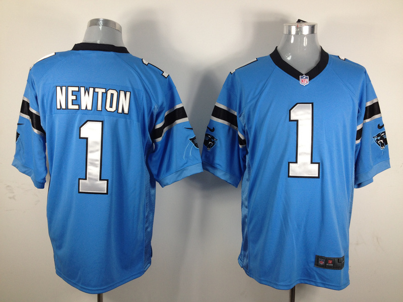 Carolina Panthers 1 Newton Blue Nike Game Jersey