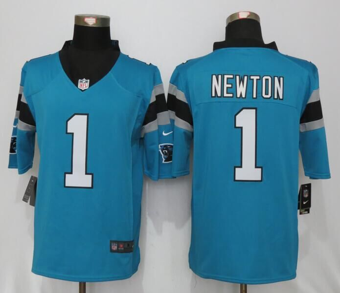 Carolina Panthers 1 Newton Blue Nike Limited Jerseys
