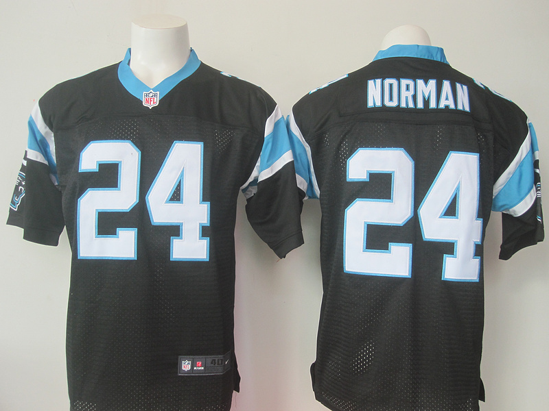Carolina Panthers 24 Josh Norman Black Men Nike Elite Jerseys