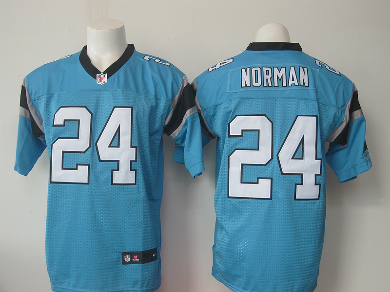 Carolina Panthers 24 Josh Norman Blue Men Nike Elite Jerseys