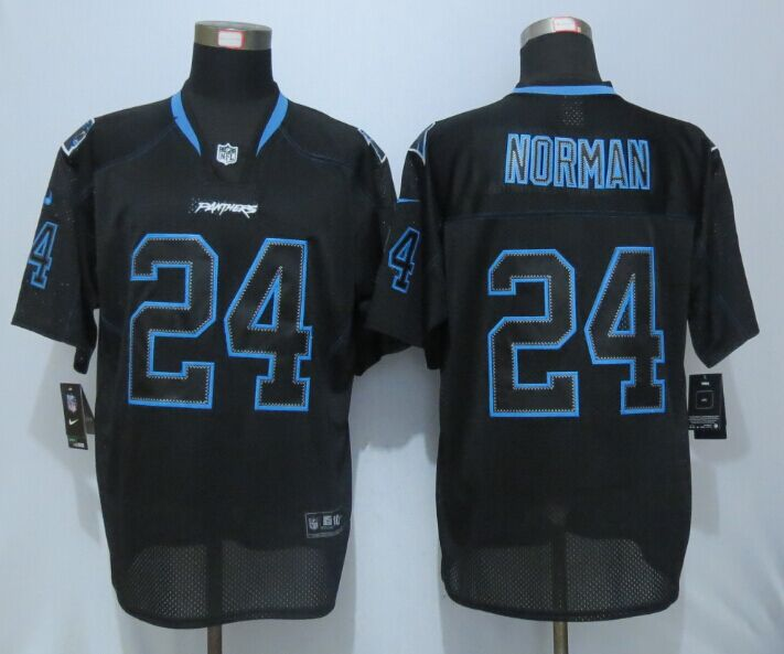 Carolina Panthers 24 Norman Lights Out Black New Nike Elite Jerseys