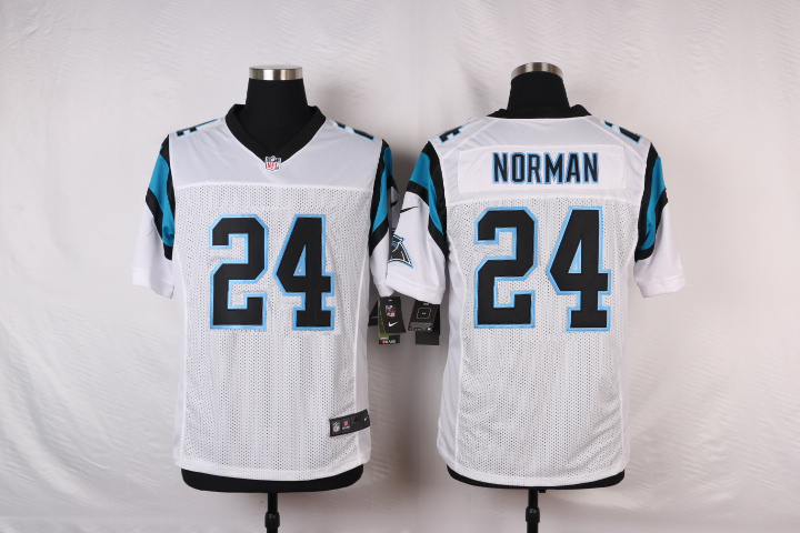 NFL Customize Carolina Panthers 24 Norman White Men Nike Elite Jerseys