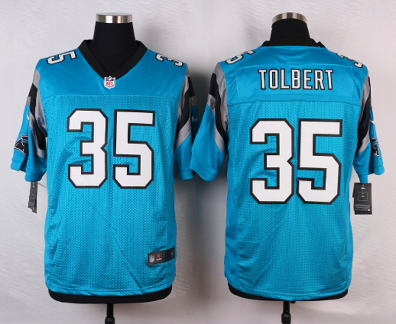 NFL Customize Carolina Panthers 35 Tolbert Green Men Nike Elite Jerseys