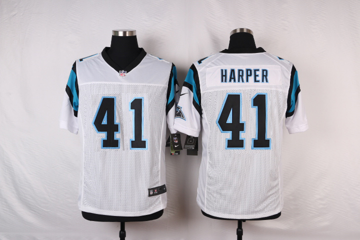 NFL Customize Carolina Panthers 41 Harper White Men Nike Elite Jerseys