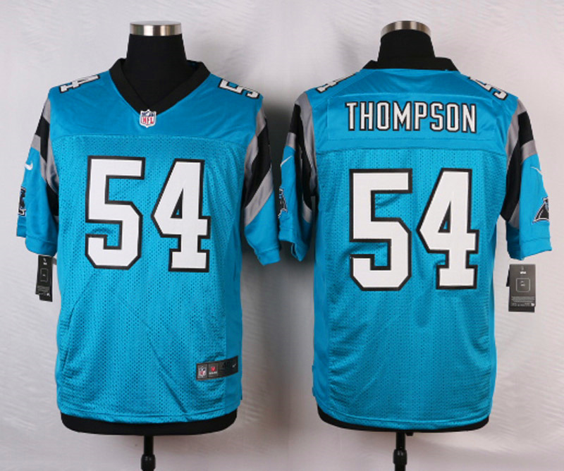 NFL Customize Carolina Panthers 54 Thompson Green 2015 Nike Elite Jersey