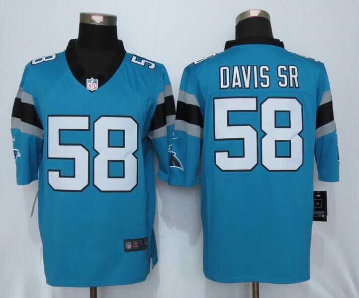 Carolina Panthers 58 Davis sr Blue Nike Limited Jerseys