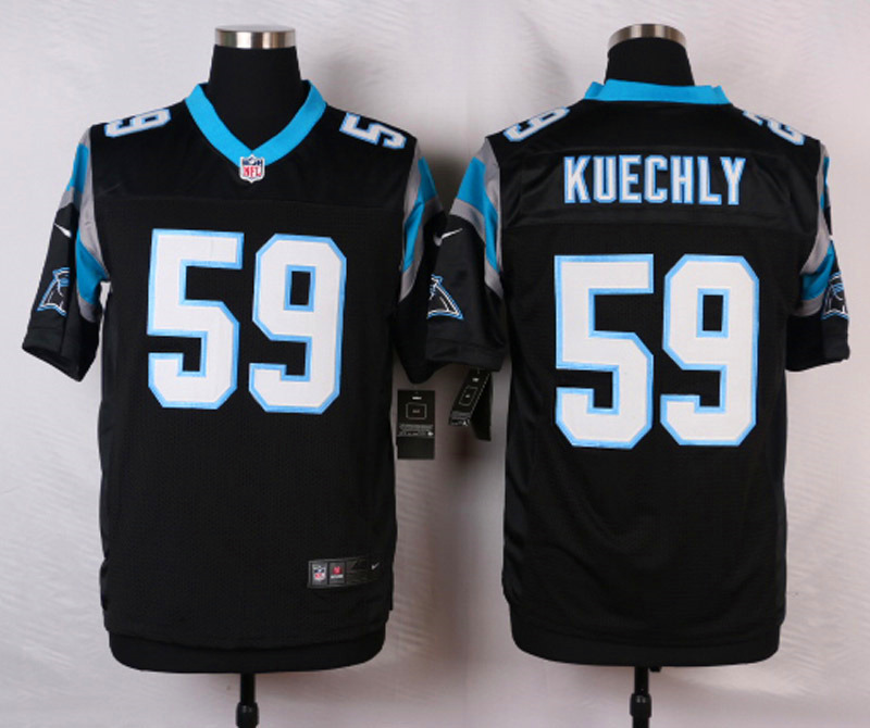 NFL Customize Carolina Panthers 59 Kuechly Black 2015 Nike Elite Jersey