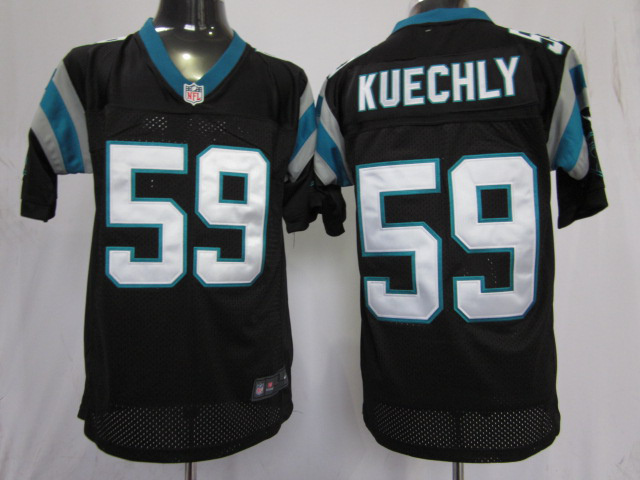 Carolina Panthers 59 Kuechly Black Nike Elite Jersey
