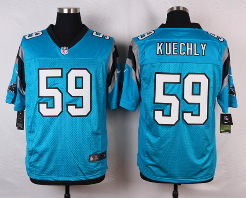 NFL Customize Carolina Panthers 59 Kuechly Blue 2015 Nike Elite Jersey