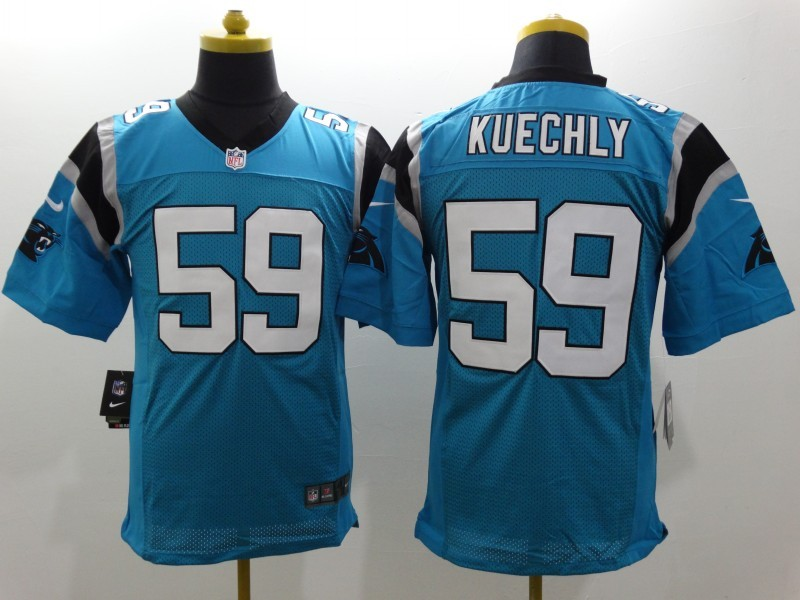 Carolina Panthers 59 Kuechly Blue Nike Elite Jerseys