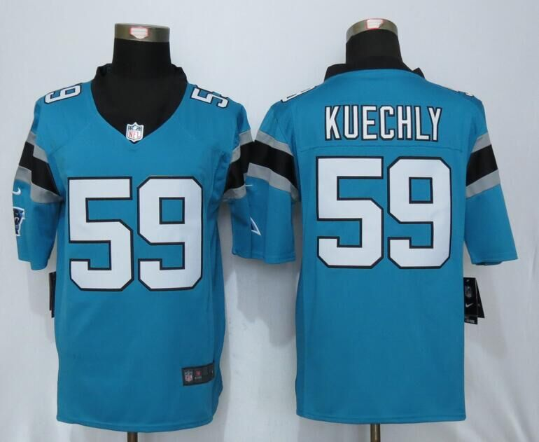 Carolina Panthers 59 Kuechly Blue Nike Limited Jerseys