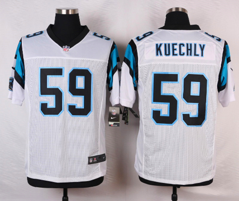 NFL Customize Carolina Panthers 59 Kuechly White 2015 Nike Elite Jersey