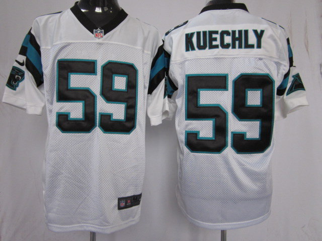 Carolina Panthers 59 Kuechly White Nike Elite Jersey