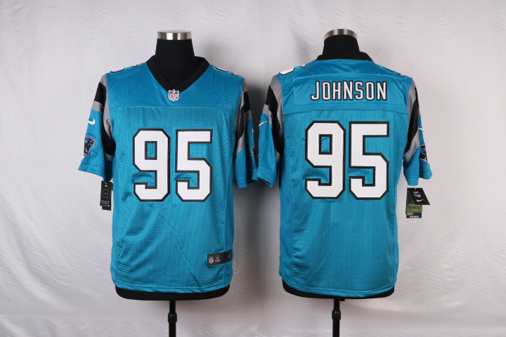 NFL Customize Carolina Panthers 95 Johnson Green 2015 Elite nike jerseys