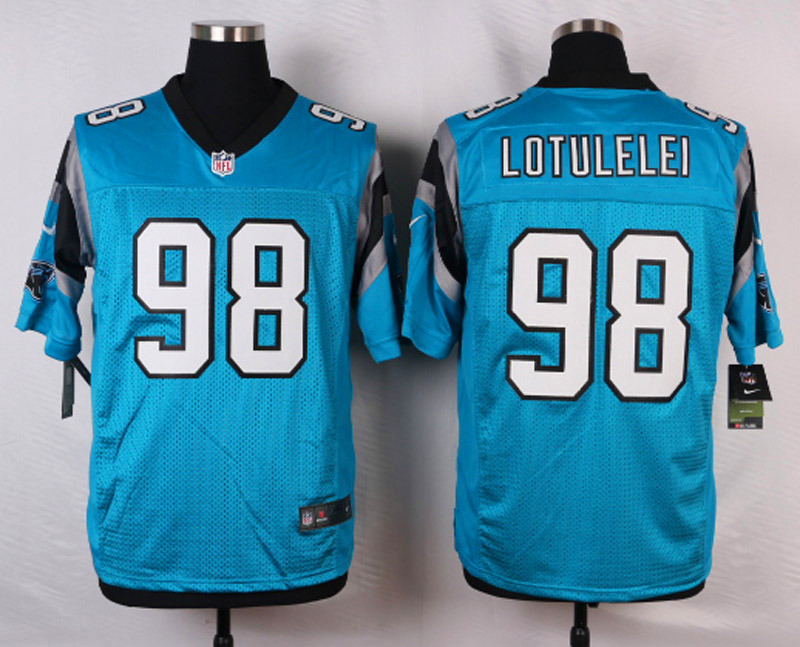 NFL Customize Carolina Panthers 98 Lotulelei Green Men Nike Elite Jerseys