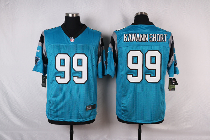 NFL Customize Carolina Panthers 99 Kawann short Blue Men Nike Elite Jerseys