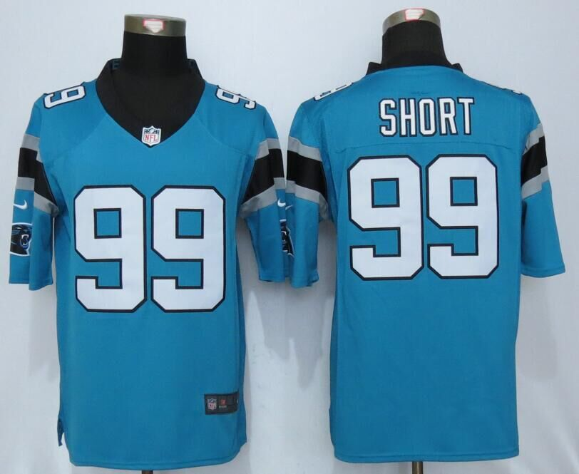 Carolina Panthers 99 Short Blue Nike Limited Jerseys
