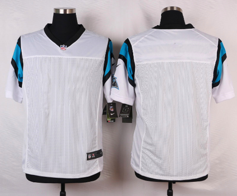 NFL Customize Carolina Panthers Blank White 2015 Elite Nike Jerseys