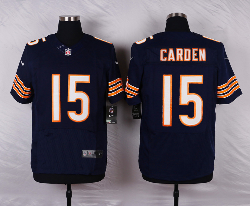 Chicago Bears 15 Carden Blue Men Nike Elite Jerseys