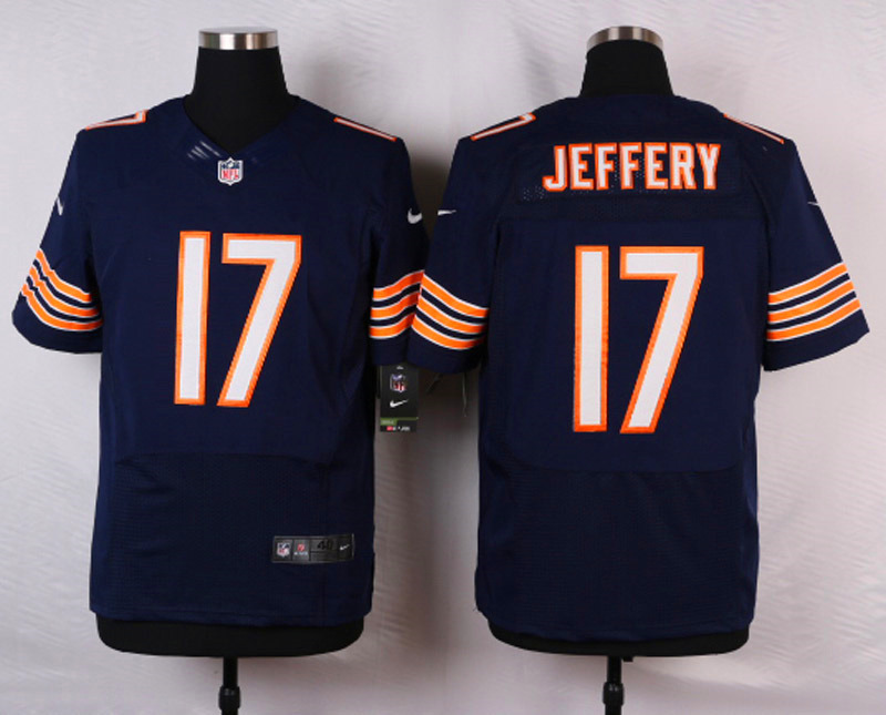NFL Customize Chicago Bears 17 Jeffery blue 2015 Elite Nike jerseys