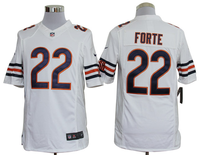 Chicago Bears 22 Forte White Nike Limited Jerseys.