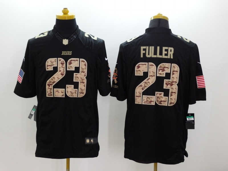 Chicago Bears 23 Fuller Black Nike Salute TO Service Jerseys