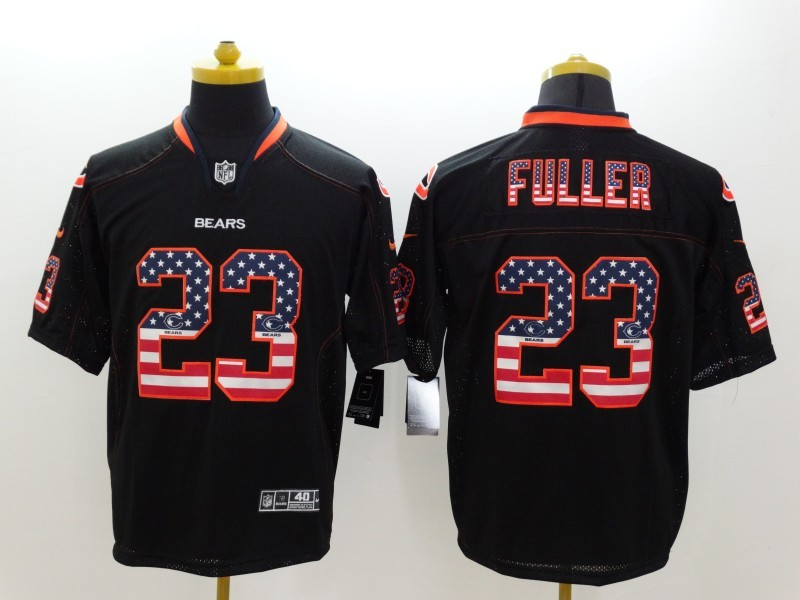 Chicago Bears 23 Fuller Black Nike USA Flag Fashion Elite Jerseys