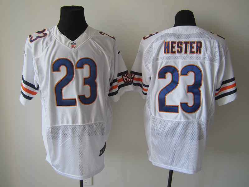 Chicago Bears 23 Hester White Nike Elite Jersey