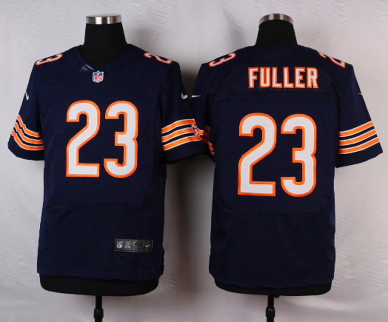 NFL Customize Chicago Bears 23 Kyle Fuller Blue Men Nike Elite Jerseys