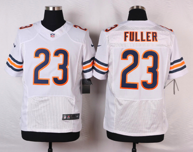 NFL Customize Chicago Bears 23 Kyle Fuller White Men Nike Elite Jerseys