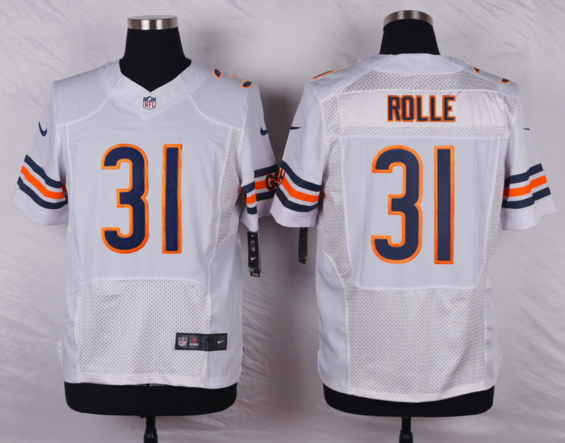 NFL Customize Chicago Bears 31 rolle white 2015 Nike Elite Jersey