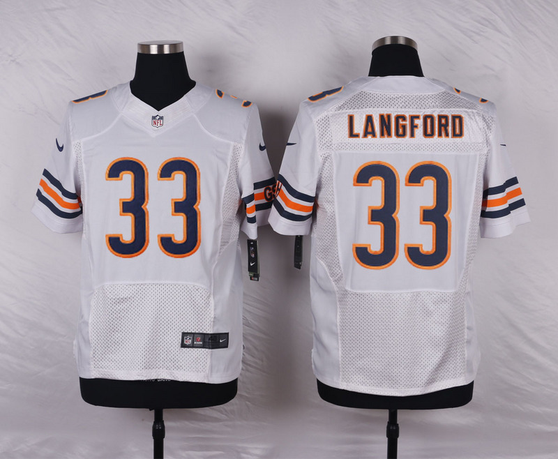 Chicago Bears 33 Langford White 2016 Nike Elite Jerseys