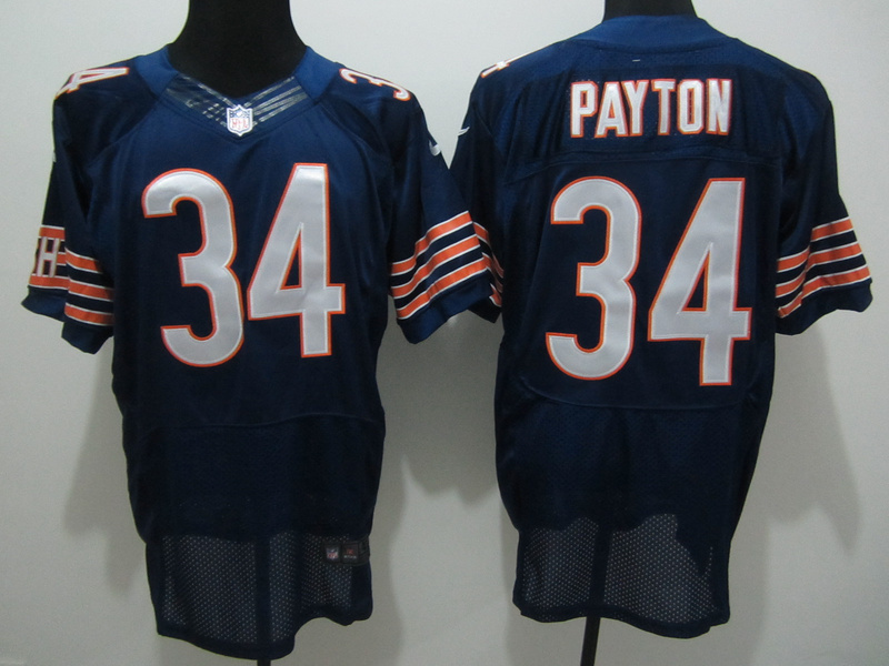 Chicago Bears 34 Payton Blue Nike Elite Jersey