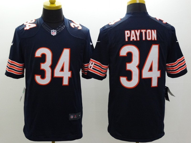 Chicago Bears 34 Payton Blue Nike Limited Jerseys