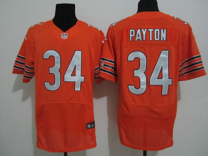 Chicago Bears 34 Payton Orange Nike Elite Jersey