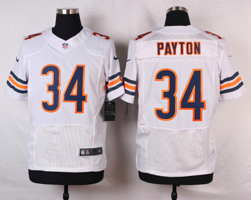 NFL Customize Chicago Bears 34 Payton White 2015 Nike Elite Jersey