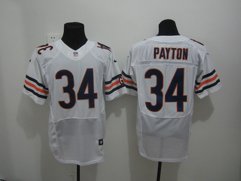 Chicago Bears 34 Payton White Nike Elite Jersey