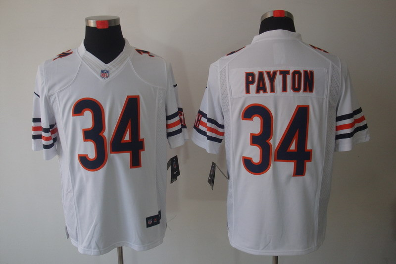 Chicago Bears 34 Payton White Nike Limited Jerseys