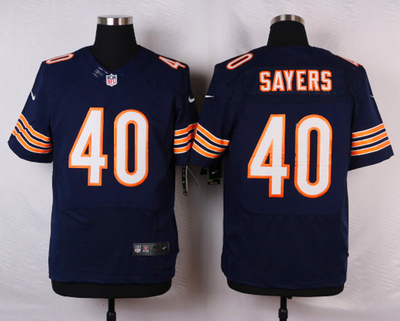 NFL Customize Chicago Bears 40 Sayers Blue Men Nike Elite Jerseys