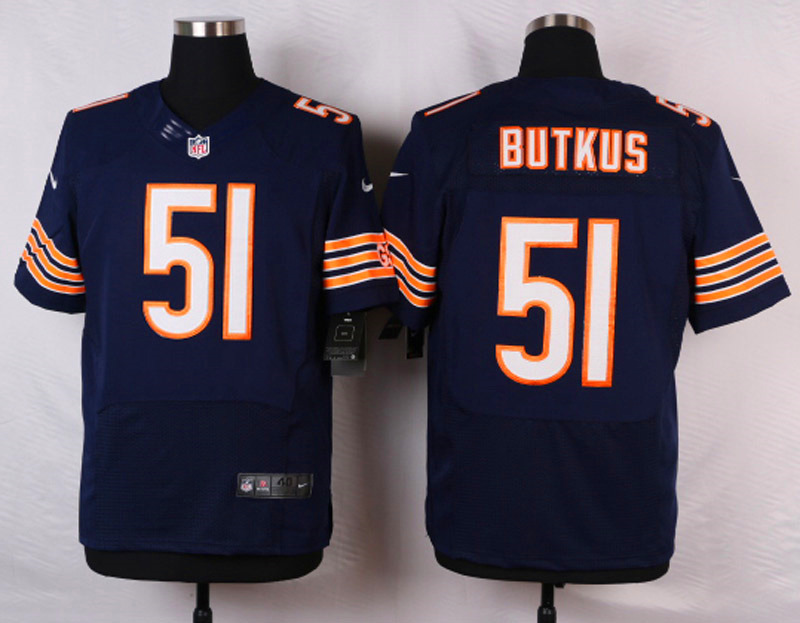 NFL Customize Chicago Bears 51 Dick Butkus Blue 2015 Nike Elite Jersey