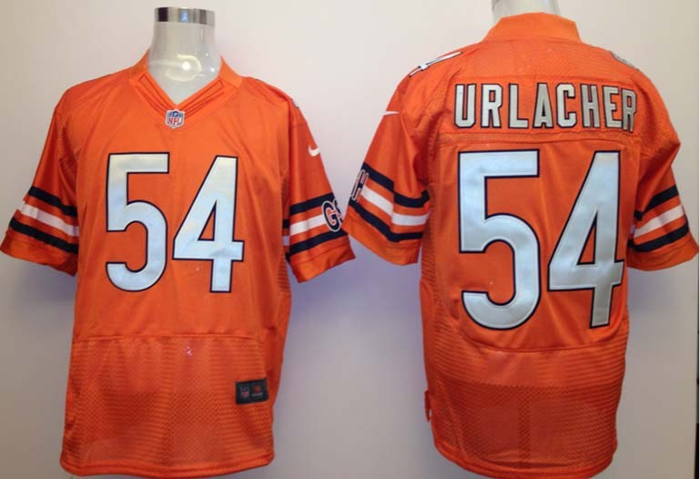 Chicago Bears 54 Urlacher Orange Nike Elite Jersey