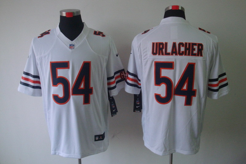 Chicago Bears 54 Urlacher White Nike Limited Jerseys