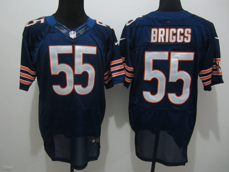 Chicago Bears 55 Briggs Blue Nike Elite Jersey