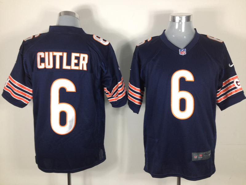 Chicago Bears 6 Cutler Blue Game Nike jerseys