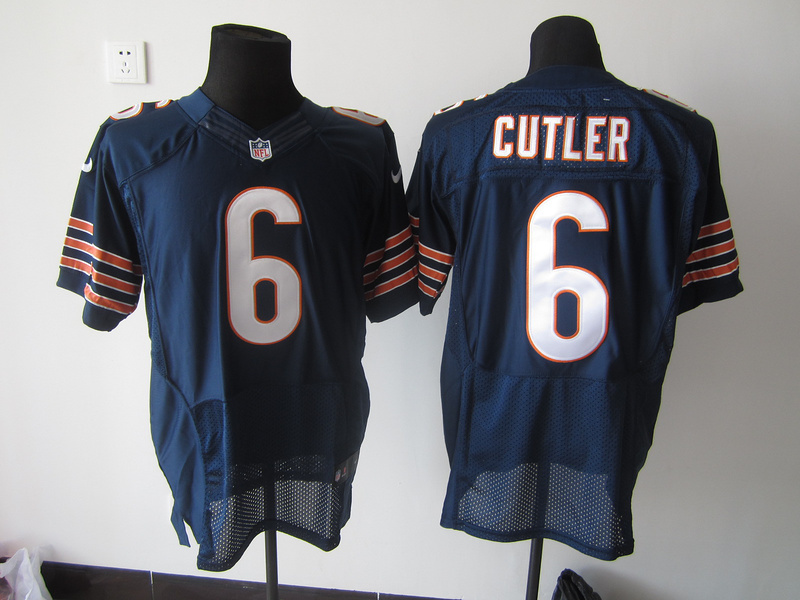 Chicago Bears 6 Cutler Blue Nike Elite Jersey