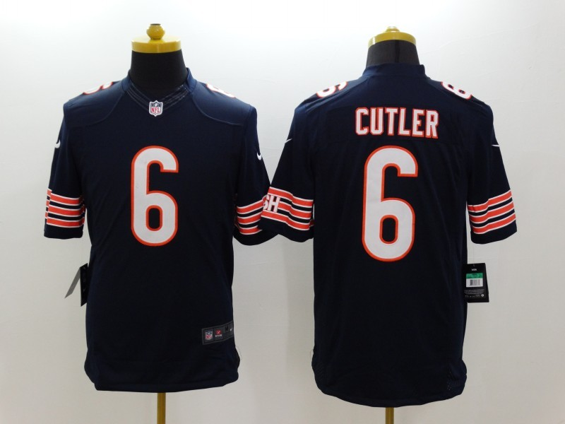 Chicago Bears 6 Cutler Blue Nike Limited Jerseys