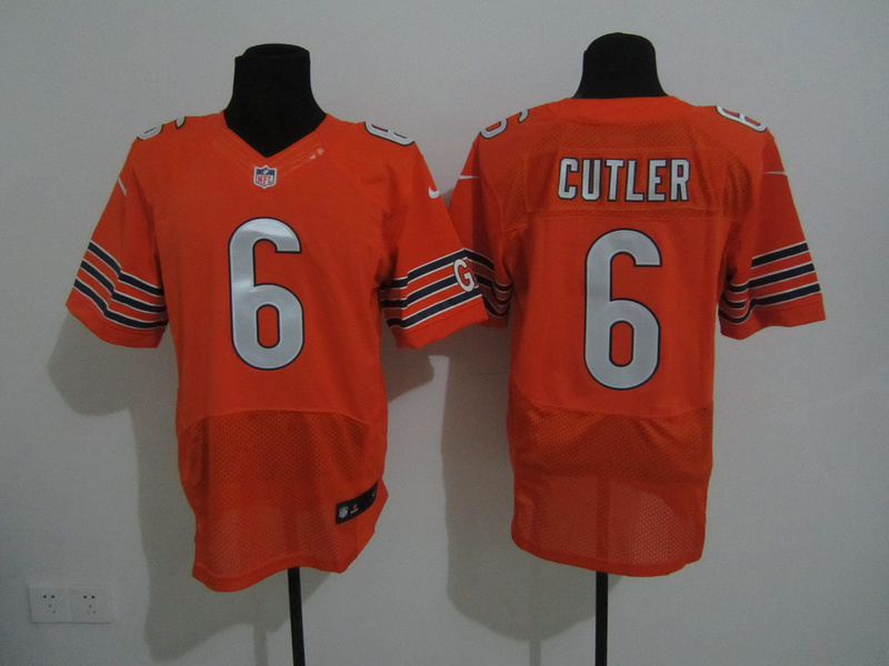 Chicago Bears 6 Cutler Orange Nike Elite Jersey
