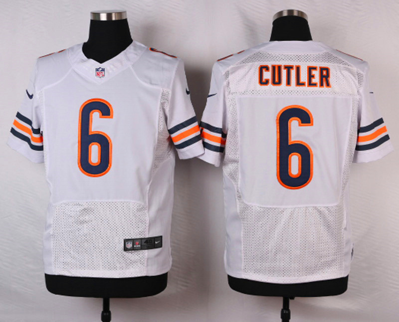 NFL Customize Chicago Bears 6 Cutler White 2015 Nike Elite Jersey