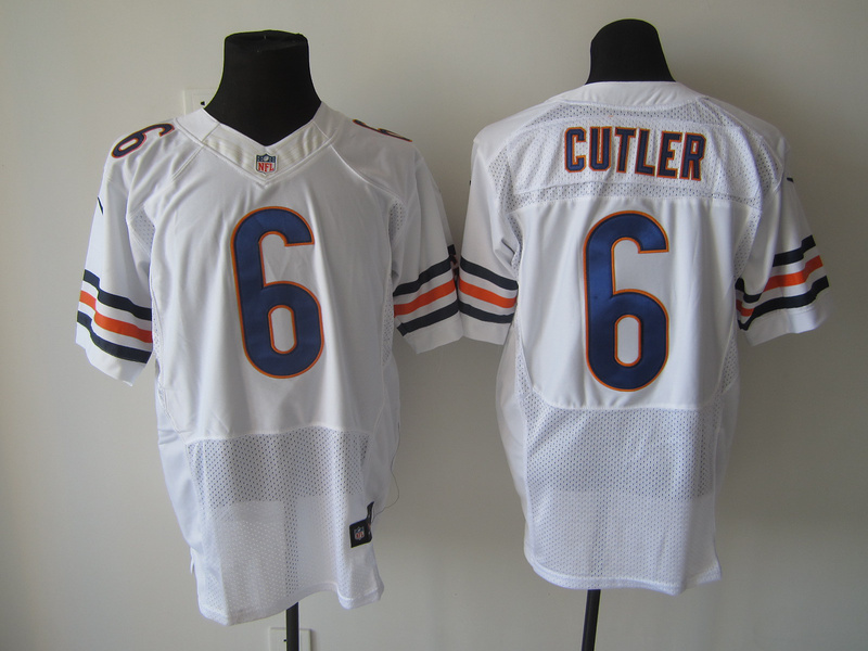 Chicago Bears 6 Cutler White Nike Elite Jersey